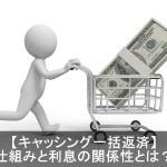 クレジットカードキャッシング一括払い返済の仕組みと利息とは?