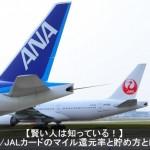【極秘】JAL/ANAカードのマイル還元率と賢い貯め方とは?