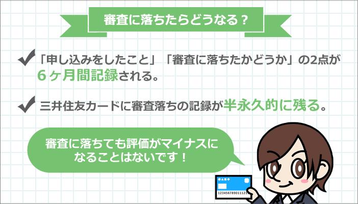 三井住友VISAカード審査に落ちたらどうなる