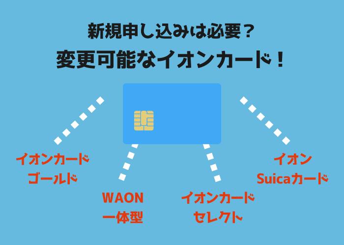 イオンカード種類別の特徴一覧!おすすめカードを詳しく解説