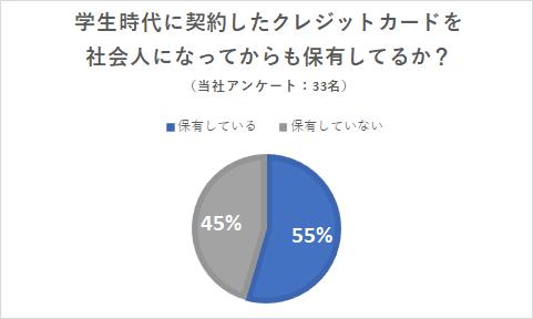 クレジットカード保有状況円グラフ