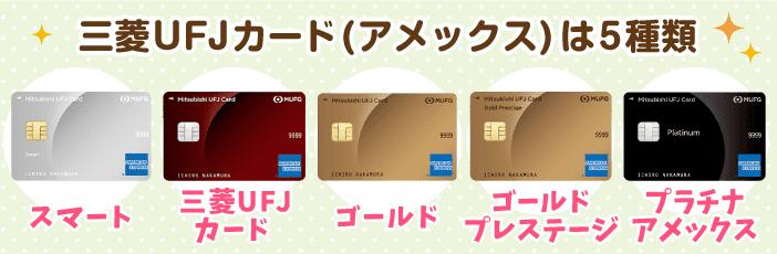 三菱UFJカードの種類